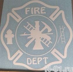 """Наклейка """"Пожарный мальтийский крест"""". Размер 12х12см - фото 5156"""