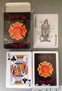 Карты игральные пожарные, 54 штуки.