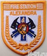 """Нашивка пожарная """"Fire station ALEXANDRA"""" (Сингапур)"""