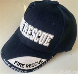 Бейсболка пожарная детская FIRE RESCUE темно-синяя. Обхват головы 52-56 см.