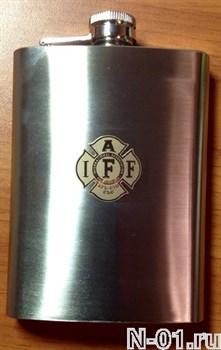 Фляжка пожарная с эмблемой Международной ассоциации пожарных