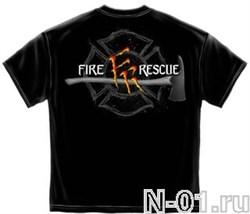 Футболка пожарная, модель 2066. Ширина по плечам 53 см - фото 3970