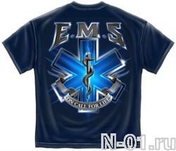 Футболка EMS парамедика. Ширина по плечам 54 см. - фото 3979
