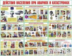"""Комплект плакатов """"Действия населения при авариях и катастрофах"""" (10 плакатов) - фото 4916"""