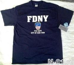 Футболка пожарная FDNY. Ширина плеч 53 см - фото 4985