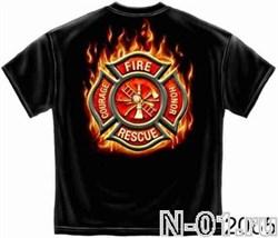 Футболка пожарная, модель 2065, ширина по плечам 56 см - фото 5002