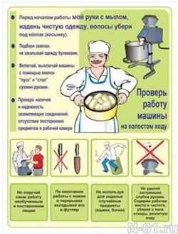 "Стенд 2404 ""Охрана труда на пищеблоке"""