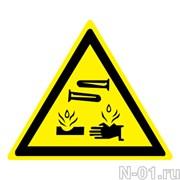 Опасно. Едкие и коррозионные вещества (пленка)