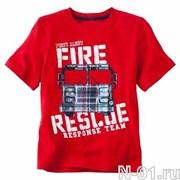 Детская пожарная футболка FIRE RESCUE