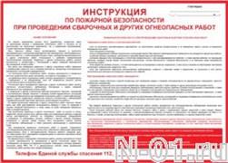 Инструкция по пожарной безопасности при проведении сварочных и других огнеопасных работ