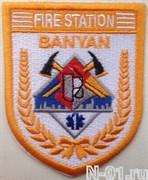 """Нашивка пожарная """"Fire station BANYAN"""" (Сингапур)"""