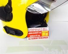 Комплект 4 фотолюминесцентных полос-наклеек на пожарный шлем Gallet