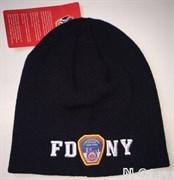 Шапка зимняя пожарная FDNY (тёмно-синяя)