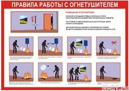 """Стенд 0117 """"Правила работы с огнетушителем"""""""