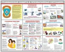 """Стенд 0208 """"Гражданская защита в чрезвычайных ситуациях"""""""