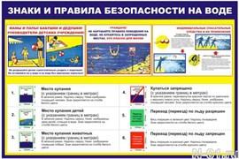 """Стенд 0412 """"Знаки и правила безопасности на воде"""""""